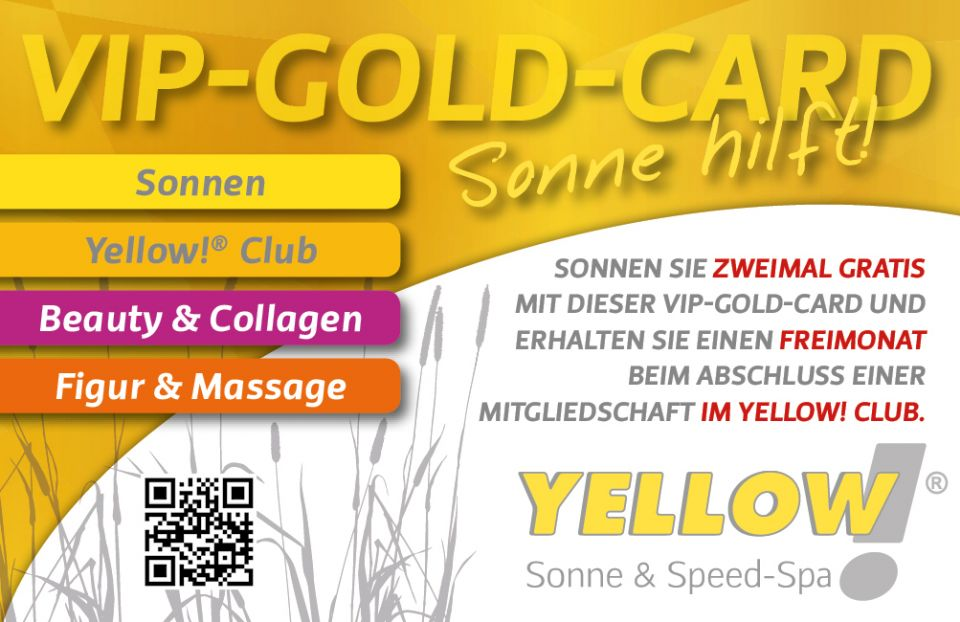 Yellow VIP-Gold-Card